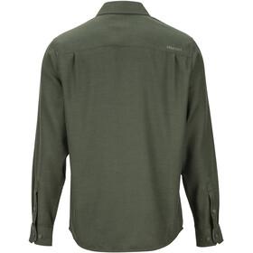 Marmot Hobson Camisa Franela Manga Larga Hombre, rosin green heather